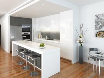 Modern Island Kitchen Design Using Floorboards Kitchen