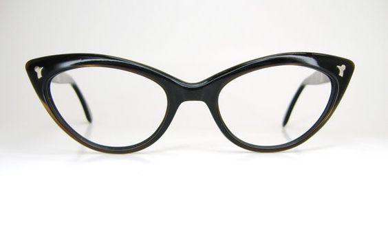 Vintage 1950s Cat eye Glasses Eyeglasses par Vintage50sEyewear, $74,00