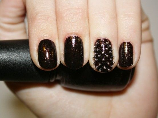 Studded nails. Yes.