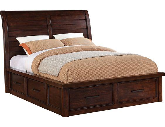 Sonoma King Storage Bed Dark Brown The O Jays Storage