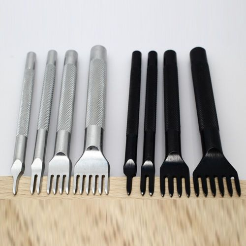 Leather DIY Craft Tools Hole Chisel Graving Stitching Punch Tool Set 4MM