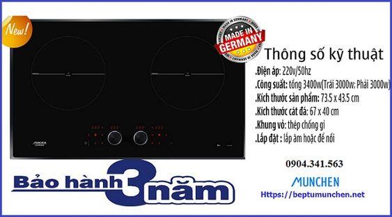 Thông số kỹ thuật của bếp từ Munchen GM 292