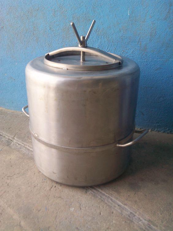 Olla de presi n para cocina de campa a militar acero - Campanas de cocina rusticas ...