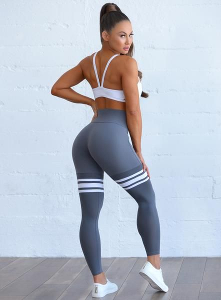 Ourpatented thigh-high leggings have asuper-soft feel, moisture wicking stripe detail, and breathable mesh, creating the perfect leggings for the gym and your everyday lifestyle. The high-fashion design helps you get that layered look in one, for effortless style and support the whole day through. Designed exclusively by Bombshell, you simply won't find the same look, feel or fit anywhere else.