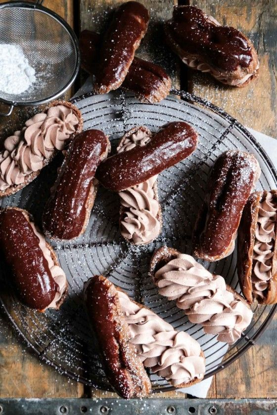 Triple Chocolate Eclairs - The perfect chocolate fix, and a recipe that is easy to make at home!!: