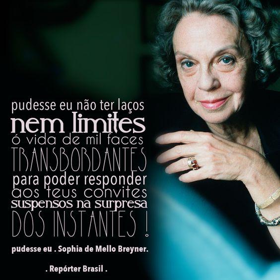 Você conhece a poetisa Sophia de Mello Breyner? Ela foi uma das mais importantes poetisas portuguesas do século XX e a primeira mulher portuguesa a receber o Prêmio Camões.: