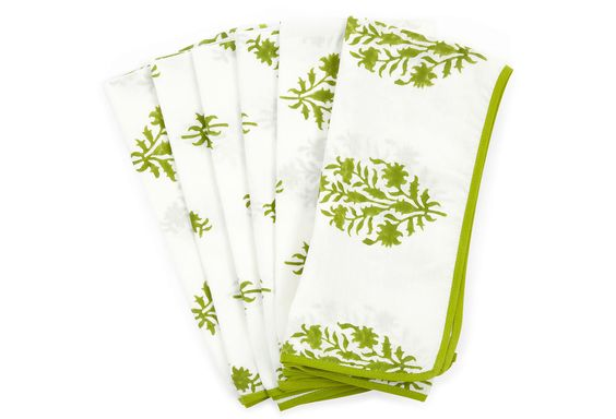 Grass Floral Napkins, Set of 6 on One Kings Lane today