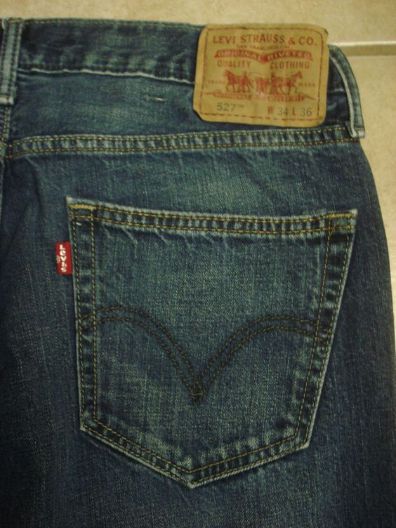 LEVI&39S 527 Boot Cut Blue Jeans Men&39s Size 34 X 36 LEVI STRAUSS EUC