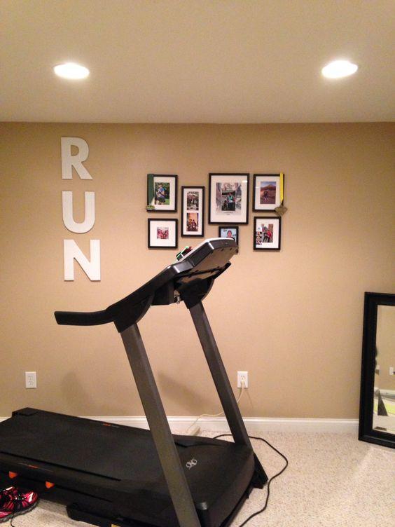 Basement workout room fitness pinterest the wall for Basement workout room