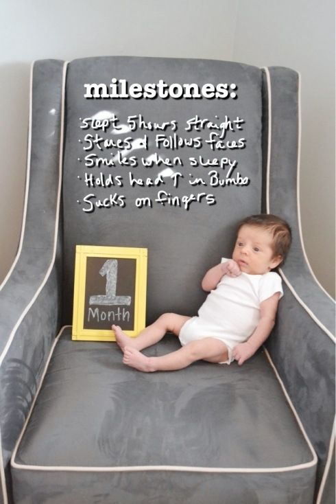 One Month Old! | Baby monthly milestones, Babies and Baby record book