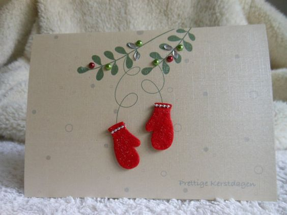 Christmas Cards . Holiday Cards . Personalized Christmas Cards . Unique christmas cards . Custom Christmas cards . Christmas mittens