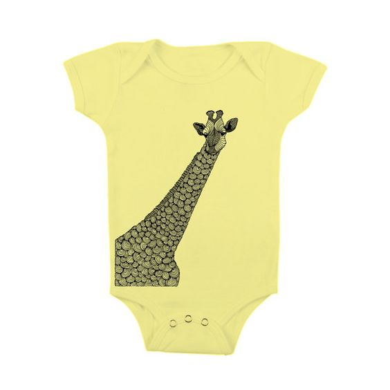 Childrens Clothing Baby  GIRAFFE  Onesie by FullSpectrumClothing, $14.00
