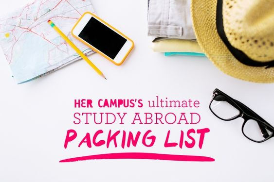 The Ultimate Study Abroad Packing List | http://www.hercampus.com/life/travel/ultimate-study-abroad-packing-list