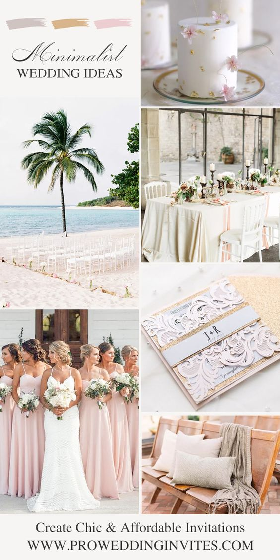 2021 Summer Wedding Color Ideas: Elegant Blush