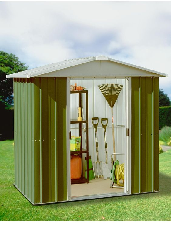 yardmaster 61 x 41 ft apex roof metal garden shed verycouk