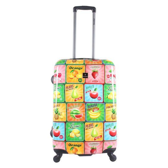 Mittelgroßer #Koffer Saxoline #Fruit bei Koffermarkt: ✓Motiv mit bunten Früchten ✓4 Rollen ✓ABS-Polycarbonat-Hartschale ✓53 Liter ⇒Jetzt kaufen