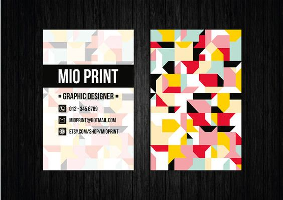 Colorful Business Card Design -  will be resold - by MioPrint
