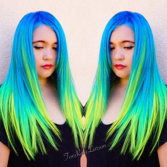 "Toni Rose Larson on Instagram: ""EDC Mermaid @arcticfoxhaircolor #arcticfoxhaircolor #modernsalon #behindthechair #dyeddollies #stylistshopconnect #hairandnailfashion #hairstyle #inspirehairstyles #whocuts #mybigbreak #tellushowyoubio #toniroselarson #colordollz #thenaillife #colordollzbytoni"""