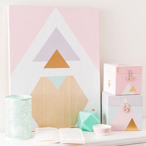 Pinterest le catalogue d 39 id es for Tableau geometrique pastel