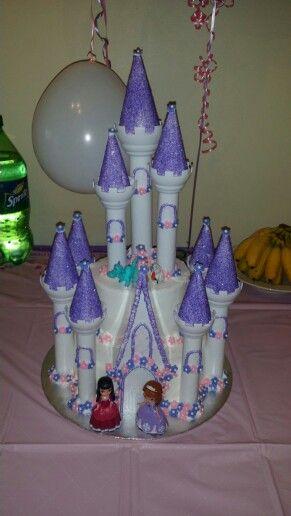 Sophia the 1st castle cake by Karen's Kaykes