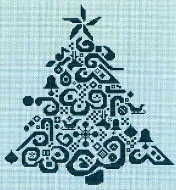 Tribal Tree (cross stitch)