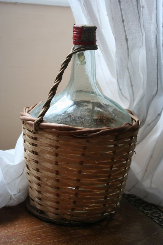 Traditional French Green Wine Bottle in by FromParisToProvence, €22.00