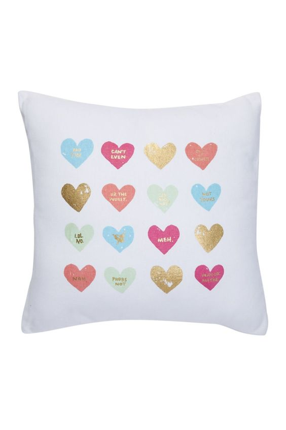 This lovely pillow is perfect for adding a little sparkle to your space.