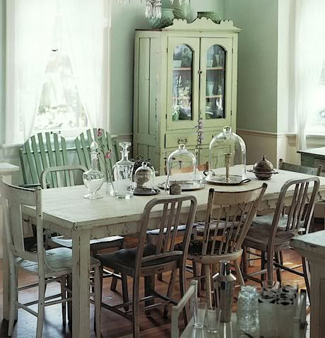 Dining Room Table With Bench Against Wall