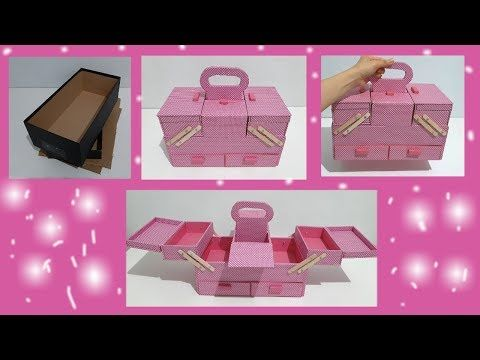 The Best Diy Organizer Box Best Out Of Waste Shoe Box Youtube