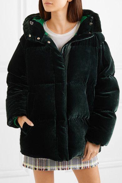 Moncler   Quilted velvet down jacket   NET-A-PORTER.COM