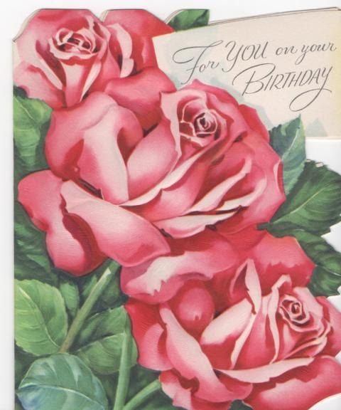 Check out this item in my Etsy shop https://www.etsy.com/listing/114791727/vintage-birthday-card-pink-and-green