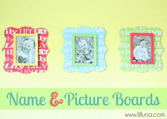 Cute homemade frames