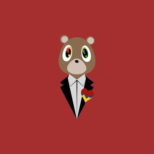 Kanye West Dropout Bear By Skyspeck Kanye West Painting Kanye West Graduation Bear Diy Canvas Art