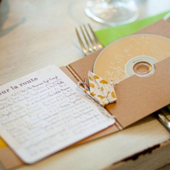 Une compilation musicale pour offrir mariage / cadeau invité mariage / wedding gift diy