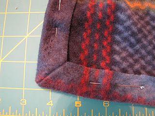 sew a perfect fleece corner