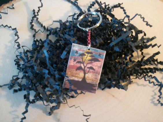 Key Chain Tree in sunset by TsWorldOfArt on Etsy, $5.00