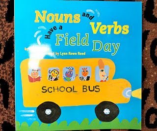 If you are looking for a cute book on nouns and verbs I purchased this one and it is filled with lots of nouns and verbs to teach your kiddos. Plus, the story it pretty cute too!