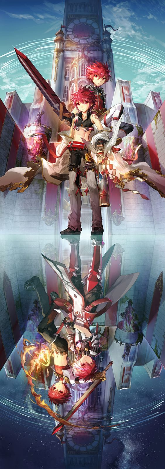 Elsword-Sword knight and Rune Slayer, Magic knight and Lord knight