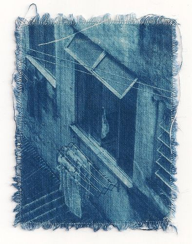 Cianotipia em tecido - 2 by Juliana Veloso