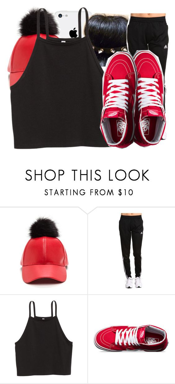 """Untitled #1191"" by baby-trilldolls ❤ liked on Polyvore featuring adidas and Vans"