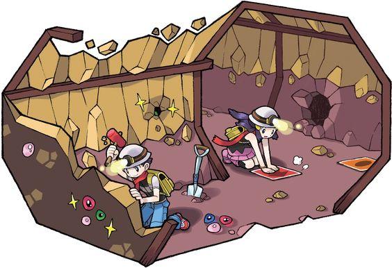 Diamond and Pearl underground