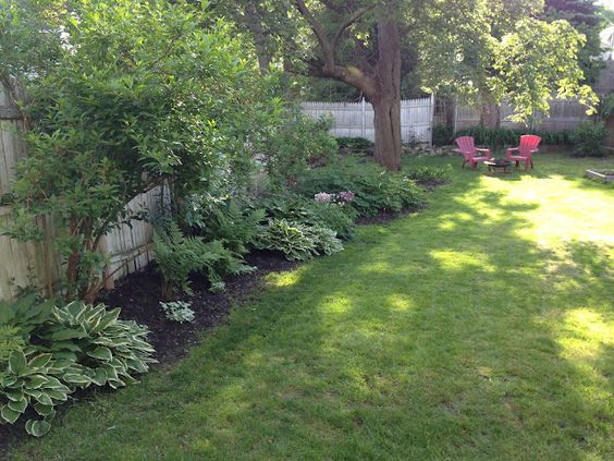 Loft cottage plants along fence line landscape design garden pinterest shades house - Landscaping along a fence ...