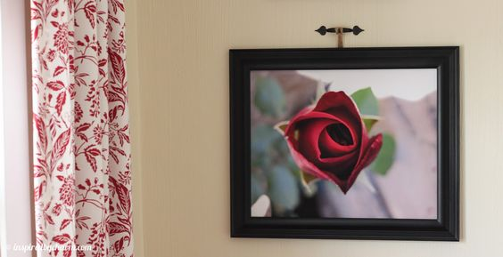 A Simple Photo Becomes Fabulous Art - and look what he used to hang the photo with!