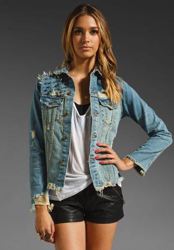 UNIF Americana Denim Jacket in Blue at Revolve Clothing - Free Shipping!