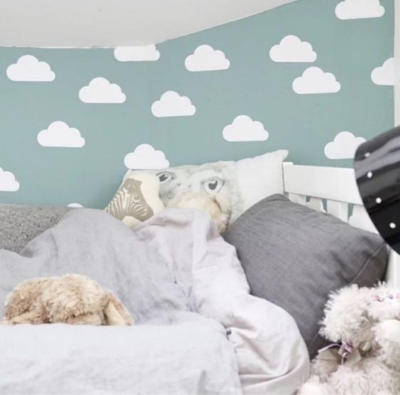 Cloud pattern Wall Sticker Baby bedroom