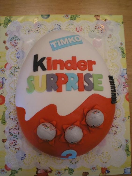 Kinder Surprise Cake Surprise Cake Egg Party 10 Birthday Cake