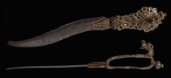 BICHAWA, Dagger ca. 1576 – 1625   Southern India  – Tanjore Maratha - Viajayanagara Kingdom (1336-1646)