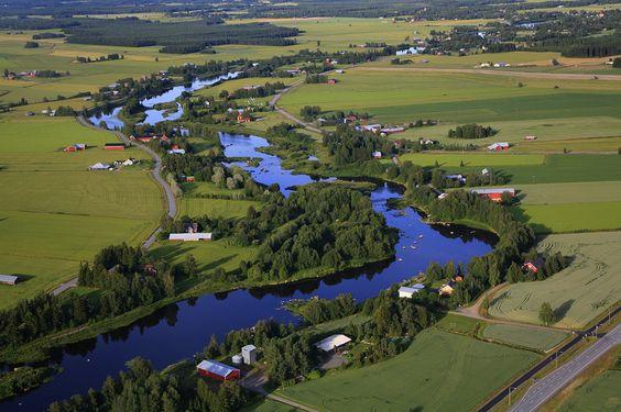 Kyrönjoki river. - Vähäkyrö Ostrobothnia province of Western Finland.- Pohjanmaa - Österbotten