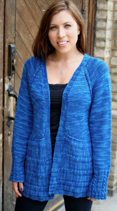 Knitting Pattern Raglan Cardigan : Cardigans, Knitting patterns and Free knitting on Pinterest