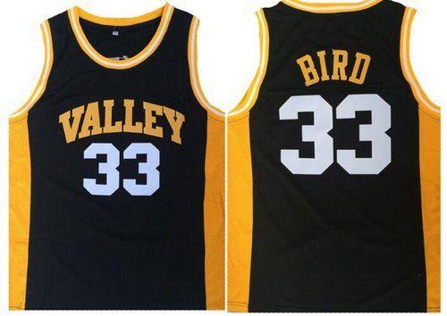 Men's Springs Valley High School #33 Larry Bird Black Soul Swingman Basketball Jersey